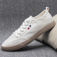 Парусиновая черно белая обувь; Мужские кроссовки; Легкая спортивная