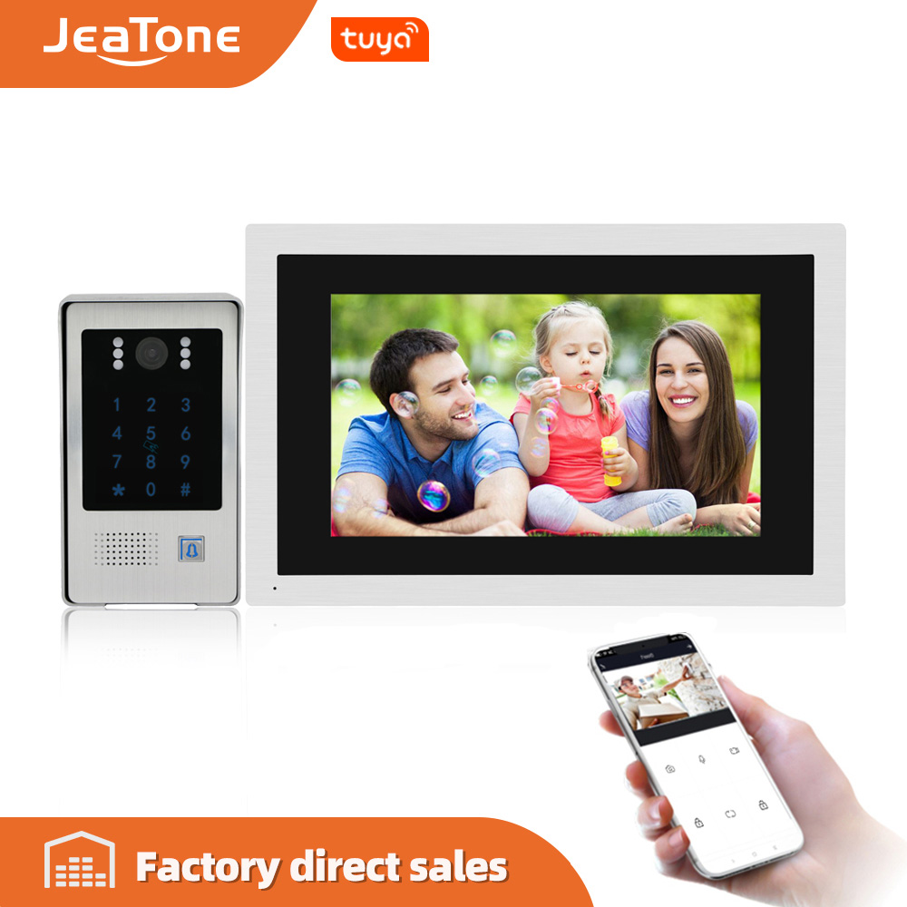 10 Inch WiFi Smart IP Video Door Phone Intercom With RFIC Function Access Control System For Private Home Support Remote Unlock