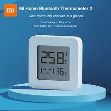 XIAOMI Mijiaบลูทูธ 4.2 เครื่องวัดอุณหภูมิเครื่องวัดความชื้น 2 หน้าจอLCDอุณหภูมิความชื้นดิจิตอลความแม่นยำสูงSmart Sensor Appต่อ
