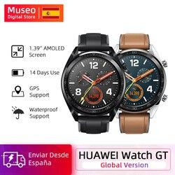 Reloj deportivo Global Huawei GT Smart Watch GPS batería de 14 días vida 5 ATM a prueba de agua llamada de teléfono Frecuencia Cardíaca