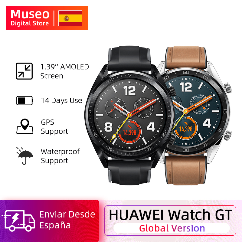 Sports Version Global Huawei Watch GT Smart Watch GPS 14 Days Battery Life 5 ATM Waterproof Phone Call Heart Rate