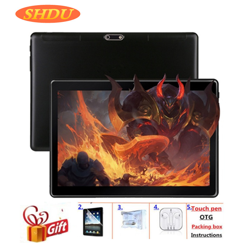 2020 New Tablet Pc 10.1 inch Android 7.0 Google Play 3G Phone Call Tablets WiFi Bluetooth GPS 2.5D Tempered Glass 10 inch Tablet image