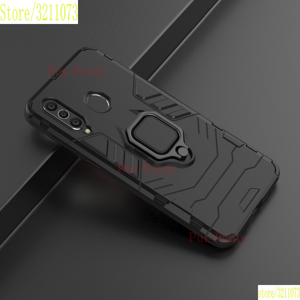 <font><b>Case</b></font> For Samsung A8S SM-G8870 Silicone TPU + Hard PC Ring Stand Hybrid Armor Fashion Phone Covers For Galaxy A8S SM-<font><b>G887</b></font> Etui image