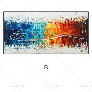 Image 3 - גדול 100% בעבודת יד מופשט בד קיר אמנות מודרני שמן ציור על Cnavas עכשווי דקור יצירות אמנות בית מלון משרד דקור