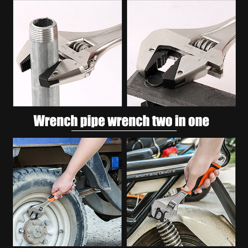 Self Adjusting Wrench Hard Alloy Ergonomic Handle Comfortable Grip Polished Chromed Adjustable service hand tool LB88