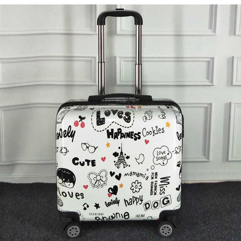 portátil flor trole bagagem de viagem mala rolando bagagem