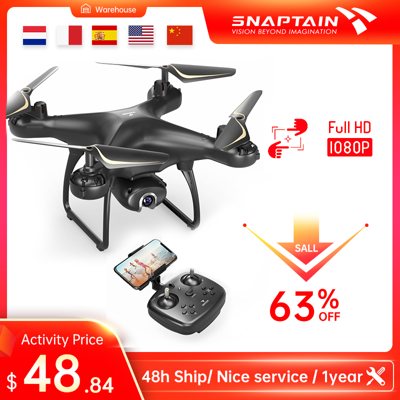 SNAPTAIN SP650 Drone with Camera 1080P 2K HD Live Video Camera Drone Voice Gesture Control  Christmas Gift for Beginners Kids