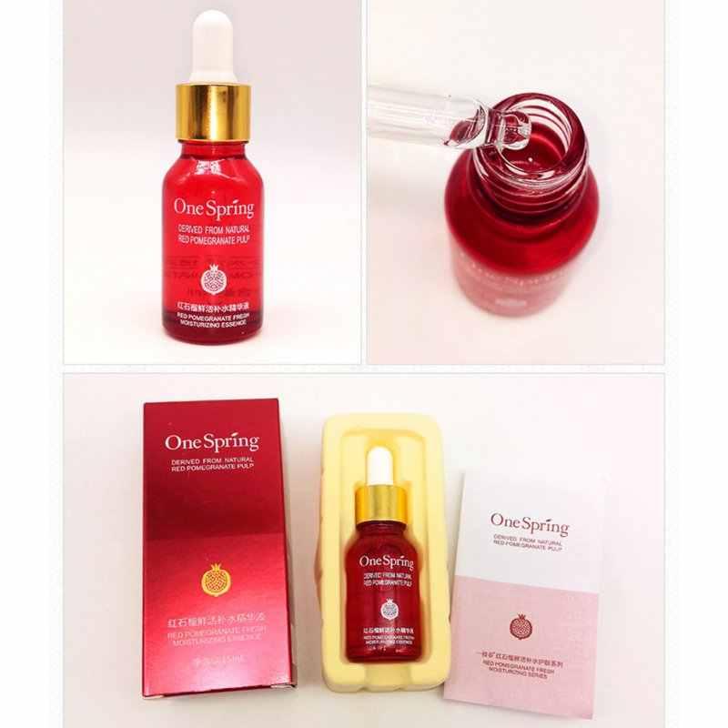 Nuovo Viso Cura Della Pelle Crema Sbiancante Anti Invecchiamento Ialuronico Liquido Acido Rosso Melograno Nutriente Moisturzing Essenza Siero