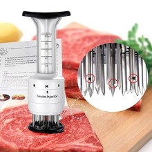 Meat Tenderizer Needle ABS+Stainless Steel Steak Meat Injector Marinade Flavor Syringe Kitchen Gadgets Meat Tools