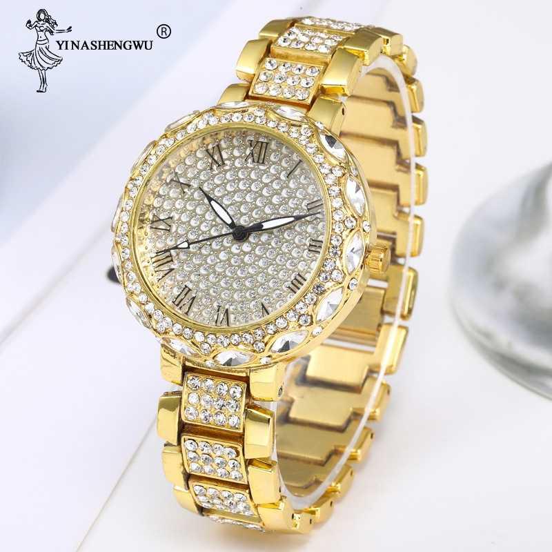 היפ הופ אייס Out בלינג CZ שעון גברים עסקי כסף עלה זהב עמיד למים שעון קוורץ יד תכשיטים לגברים נשים montre Homme