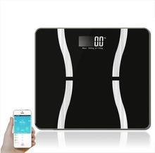 Waga ludzkiego tłuszczu inteligentny Bluetooth tłuszczu skala tłuszczu mikro mały program waga do pomiaru tkanki tłuszczowej Y tanie tanio DIGITAL Wagi domowe Szkło hartowane Rectangle 150 kg Wagi pomiaru PATTERN NB-1 electronic Measuring body weight measuring moisture measuring fat