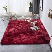 Tapis de salon doux et moelleux, accessoire moderne en peluche pour chambre à coucher, de chevet rectangulaire, pour pépinière