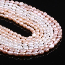 Hot Natural Pearls Beads Freshwater Cultured Loose for Jewelry Making DIY Bracelet Necklace Earrings 13 Inches Size 6-7mm