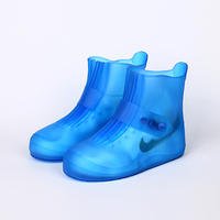 Мужские и женские многоразовые покрытие на обувь от дождя всесезонные водонепроницаемые Нескользящие резиновые сапоги на молнии обувь уни...