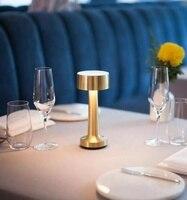 الذهب النحاس اللاسلكي الجدول مصباح مطعم فندق Ktv بار قابلة للشحن Led الجدول ليلة ضوء المطبخ الثريا-في أضواء قلادة من مصابيح وإضاءات على