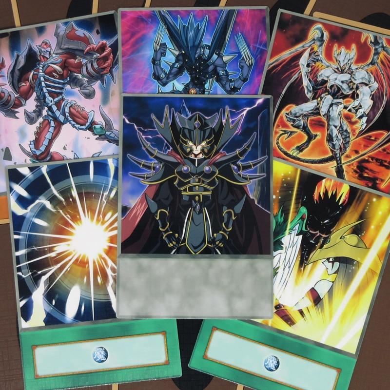 16pcs/set GX Evil HERO Anime Style Cards Dark Jaden Yuki Token Fiend Monsters YGOPRO Evil King Judai Yugioh Half-frosted Orica