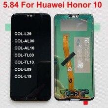 100% اختبار 5.84 ل هواوي honor 10 honor 10 COL L29 كامل شاشة الكريستال السائل + محول الأرقام بشاشة تعمل بلمس قطع تجميع الأصلي LCD bkl l04