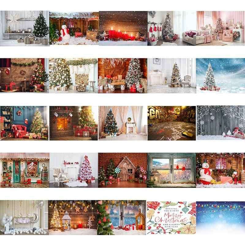 0.9*1.5m Photography backgrounds Christmas Background Cloth Snows Santa Claus Home Decor Photo Studio Fabric decoration