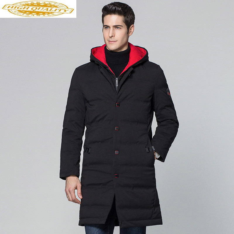 Winter Hooded Duck Down Jacket Men Long Warm Down Coat Men's Jackets 2020 New Parka Overcoat Casaco Masculino KJ570