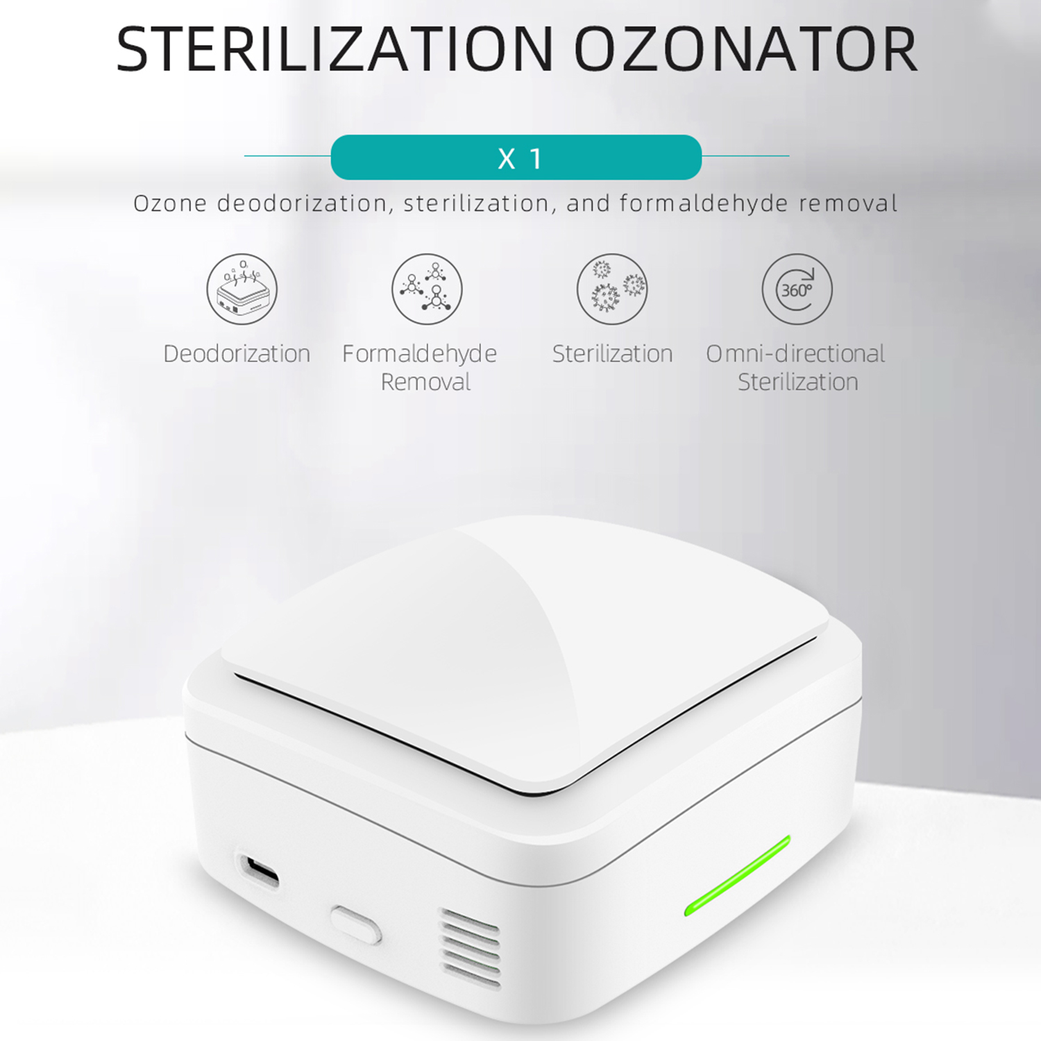 Ozone S-terilizer Household Air Purifier Refrigerator S-terilizer Eliminator Deodorization For Car Office Home Ozone Machine