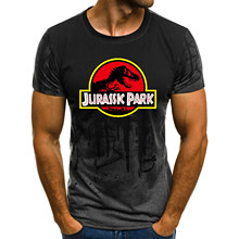 NEW Jurassic Park Men Tees Clothing Short Sleeved Dinosaur T shirts T SHIRT Tops Unisex Jurassic World Clothes
