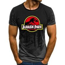 Nowy Park jurajski mężczyźni koszulki odzież krótki rękaw koszulki dinozaurów T SHIRT topy Unisex świat jurajski ubrania
