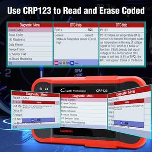 Image 5 - השקת Creader Crp123 OBD 2 אבחון כלי עבור ABS/SRS/תיבת הילוכים/מנוע מערכת OBD2 קוד קורא השקה crp123 PK NT650 Creade 8
