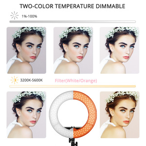 Image 2 - Travor photo studio ring light 14 inch 18 inch LED ringlight Camera Phone Photography lighting dimmable Ring Lamp With Tripod