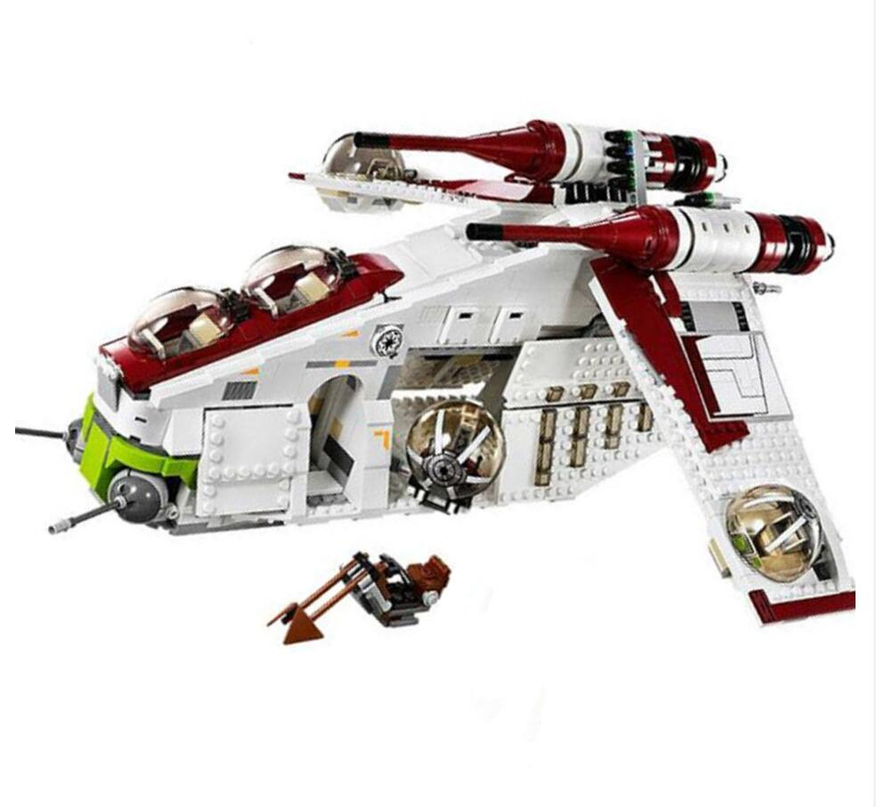 Star Wars Compatible Lepines StarWars 75021 Republic Gunship Set Children Educational Blocks Christmas Gifts For Boys Gift