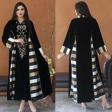 Md размера плюс вельветовое платье мусульманских женщин Мода
