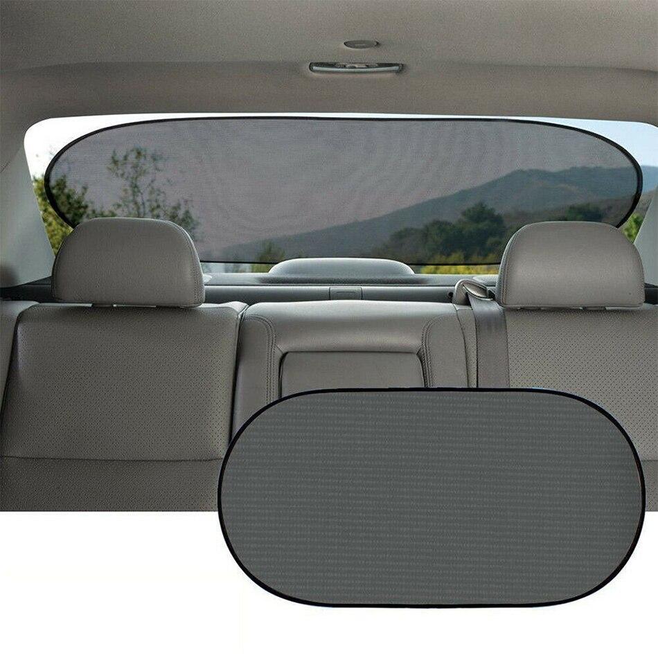 1pc 100x50cm Sun Visor Screen Sunshade Car Curtain Mesh Nylon Car Rear Window Sunshade with Powerful Suction Cup Automobile