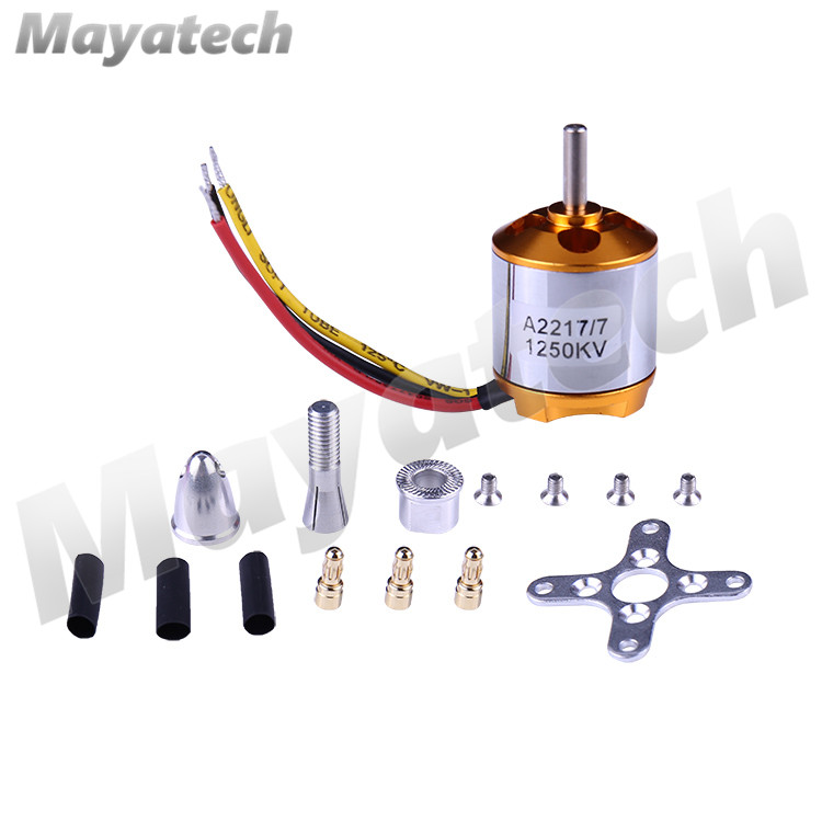 A2217 2217 <font><b>1250KV</b></font> 1500KV 2300KV Outrunner <font><b>Brushless</b></font> <font><b>Motor</b></font> For RC Airplane Aircraft Plane Quadrocopter Multi-copter image