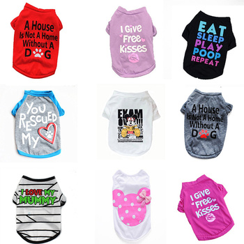 Pet Dog Clothes for Small Dogs Puppy Pets Clothing Cute T Shirt Winter Warm Dog Coat Jacket Vest Letter Printed Ropa Para Perros hot pets dog hoodies puppy coats jackets for chihuahua maltese cat costume dogs clothes ropa para perros xs xxl clothing