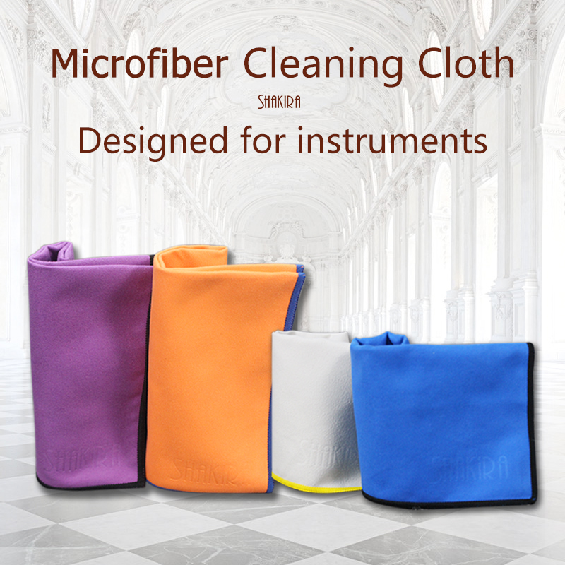 5x Universal Microfiber Cleaning Polishing Cloth Wind Red for Guitar Violin Piano Clarinet Trumpet Flute