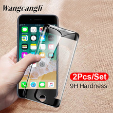 2 pieces / each set of glass protective film for iPhone6 6S 6plus HD screen protector transparent hard glass film for iPhone6S 6 9H full screen tempered glass film цена