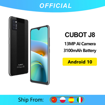 Cubot J8 Smartphone 5,5 pulgadas Triple Cámara Android 10 tarjeta SIM Dual teléfono 3100mAh batería de la Batería 2GB RAM + 16GB ROM 3G teléfono Android