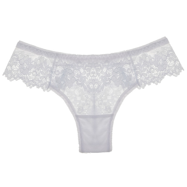 TERMEZY Women Sexy Lace Lingerie Temptation Low-waist Panties Embroidery Thong Transparent Hollow out Underwear Female G String 6