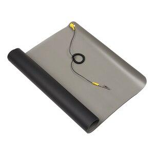 Image 1 - 1 шт. новый черный прочный Настольный антистатический коврик, силиконовые ESD заземляющие коврики 700*500 мм + шнур для ПК, ноутбука, инструменты для ремонта Mayitr