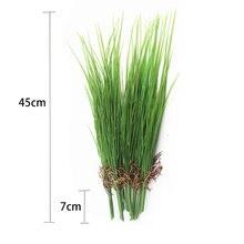 Зеленая искусственная луковая трава 45 см букет пластиковых