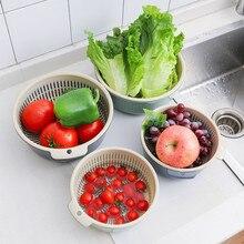 Новая пластиковая двухслойная пустотелая корзина для мытья фруктов для слива фруктов Съемная переносная двухслойная корзина для хранения фруктов