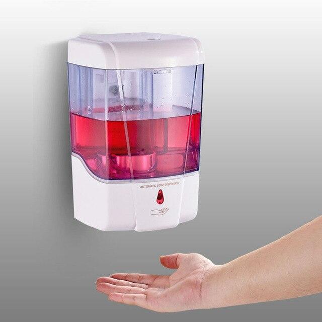 주방 사무실에 대 한 700ml Touchless 욕실 디스펜서 스마트 센서 액체 비누 디스펜서 손 무료 자동 비누 디스펜서