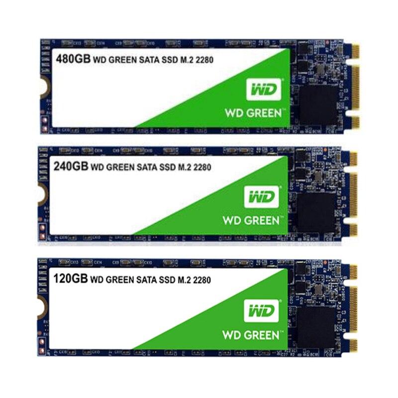 Western Digital 2280 M2 SSD M.2 SSD 120 go/240 go/480 go 2280 M2 SATA SSD M.2 SSD-M2 480 go 240 go 120 go WD din92 SSD pour ordinateur portable hp