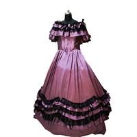 2020 New purple Vintage costumes 18th Duchess Retro medieval Renaissance Reenactment Theatre Civil war Victorian dress D 381