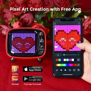 Image 3 - Divoom Tivoo נייד Bluetooth רמקול חכם שעון מעורר פיקסל אמנות DIY על ידי App LED אור סימן ב קישוט מתנה ייחודית