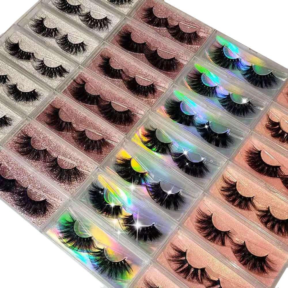 3D Mink Eyelashes Luxury False Eyelases Wispy Cross Natural Mink Eyelashes Extension Eye Makeup Use 100% Handmade Mink Eyelashes