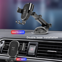 car air outlet Car Wireless Charger Mobile Phone Bracket Suction Cup Telescopic Car Cell Phone Navigation Bracket Air Outlet Charging Bracket (3)