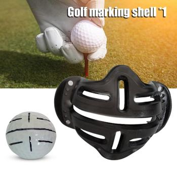 Hot Golf Ball Alignment Identification Tool Putt Positioning Ball Golf Line Marker Golf Training Template Alignment Marks Tool image