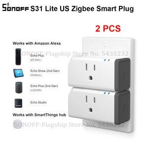 Image 1 - 2 قطعة Itead SONOFF S31 لايت الولايات المتحدة الذكية زيجبي المقبس التوصيل صوت التحكم عن بعد مفتاح المنزل الذكي يعمل مع اليكسا smartarts Hub