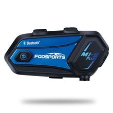 Fodsports M1-S Plus Motorcycle Helmet Intercom for 8 riders Waterproof Wireless Bluetooth Headset intercomunicador music sharing