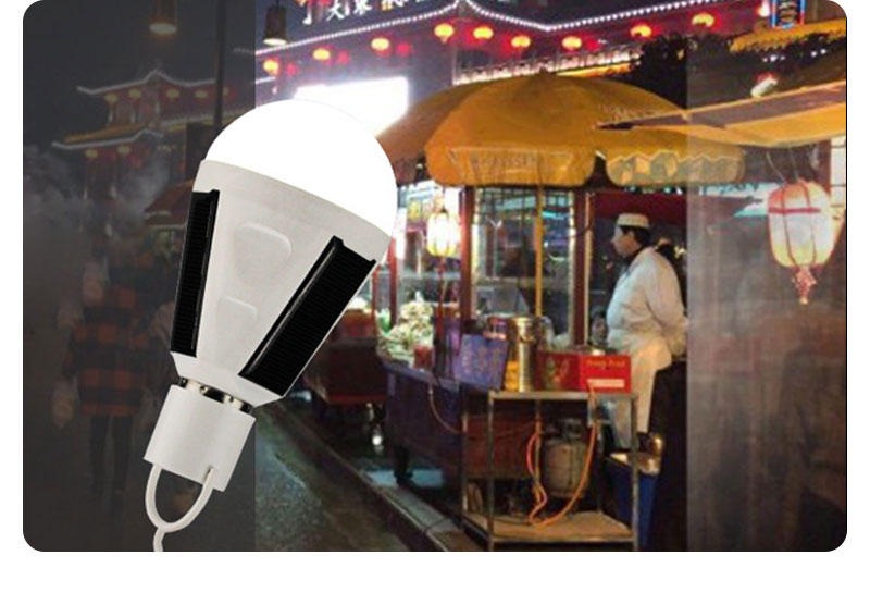 H5acc2a1d4b2b4c1a817fd68ed7e4beecB - Solar light outdoors LED lighting portable bulb lamp emergency light garden corridor light indoor emergency lighting bulb lamp
